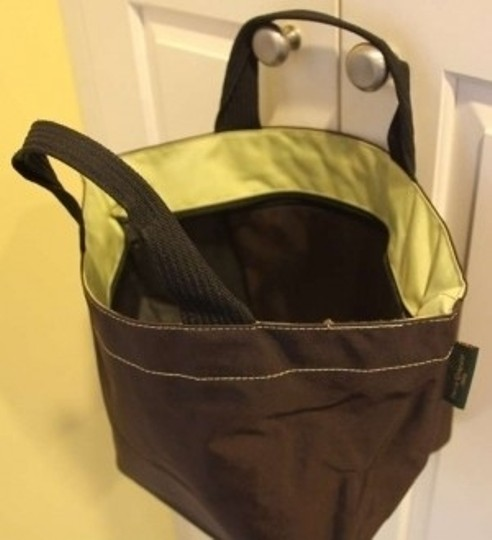 Herve Chapelier Tote in brown/light green