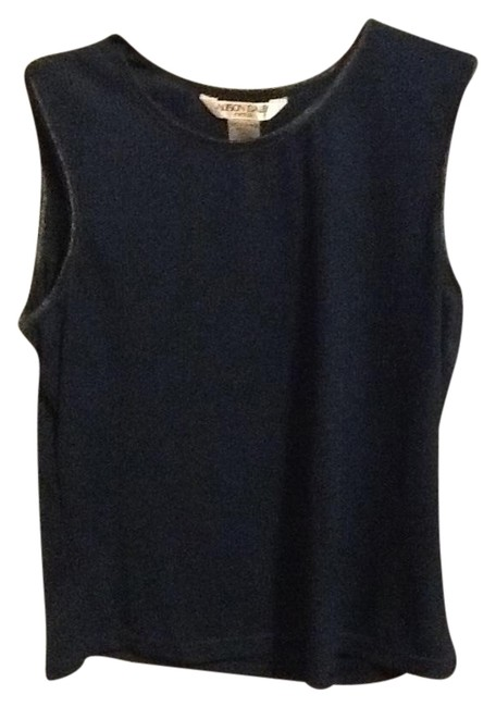 Allison Daley Petite Ribbed Design Comfortable Office Loose Fitted Tank Emerald Green Halter Top