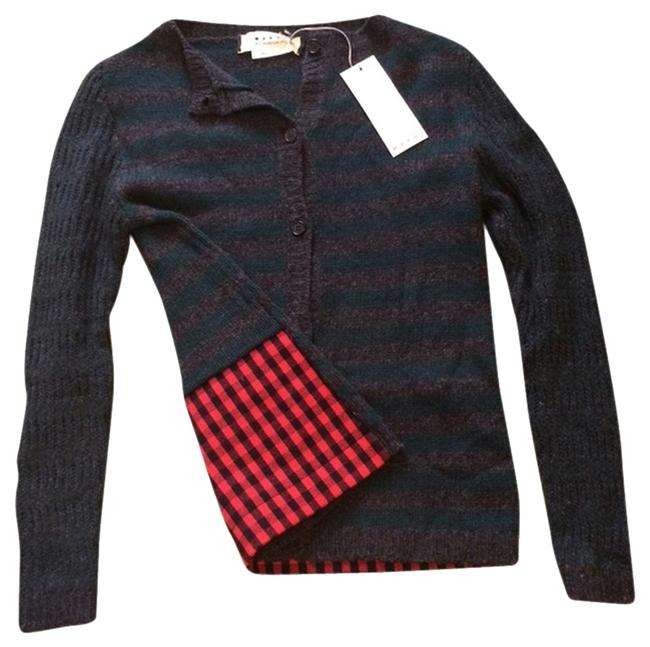 Marni Striped Wool Plaid Tibi Cardigan