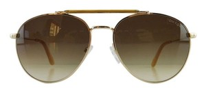 Tom Ford New Tom Ford TF 338 28F Colin Gold Aviator Full-Frame Brown Gradient Sunglasses 58mm Italy