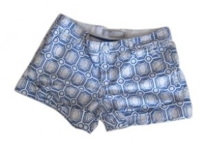 Old Navy Cuffed Shorts Blue and White