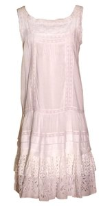Oscar de la Renta short dress White Eyelet on Tradesy