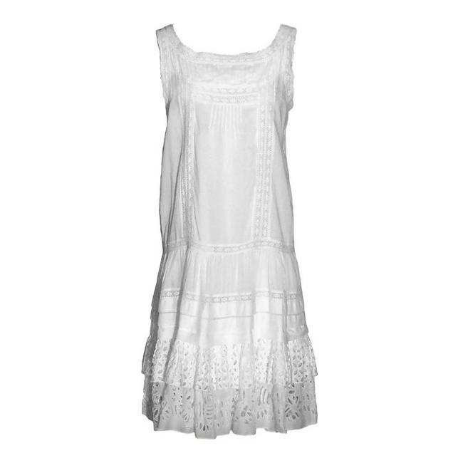 Preload https://item2.tradesy.com/images/oscar-de-la-renta-white-eyelet-lace-mid-length-short-casual-dress-size-10-m-13296226-0-2.jpg?width=400&height=650
