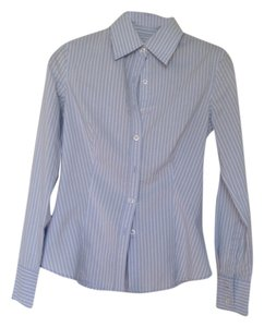 United Colors of Benetton Button Down Shirt Light blue, white stripe
