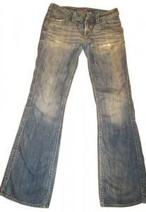 Silver Jeans Co. Faded Front Slightly Destroyed Boot Cut Jeans-Medium Wash