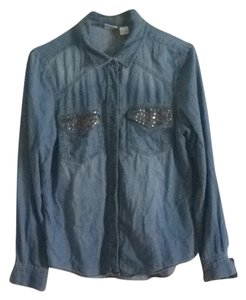 Mudd Button Down Shirt Dark Blue