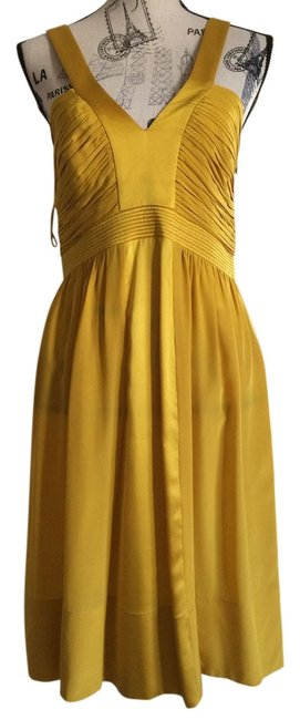 Preload https://img-static.tradesy.com/item/13298275/tufi-duek-yellow-short-cocktail-dress-size-6-s-0-1-650-650.jpg