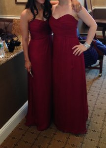 Amsale Cranberry Chiffon G629c Modern Bridesmaid/Mob Dress Size Petite 2 (XS)