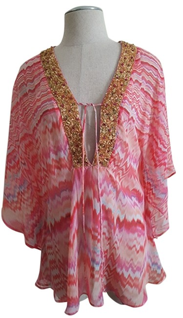 Item - Women's Printed Poly Chiffon Multi Color Top
