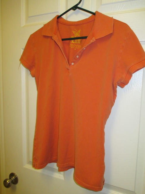 LuLu Pacific Sunwear Large Surf Polo Button Down Shirt Orange