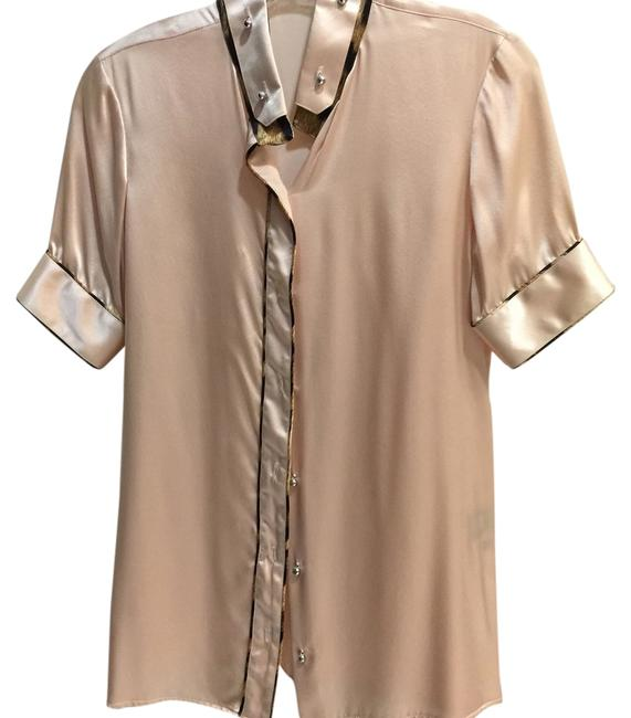 Roberto Cavalli Light Pink Button-down Top Size 4 (S) Image 0