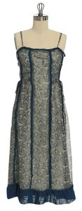 Anthropologie short dress Paisley Knee Length Lined on Tradesy