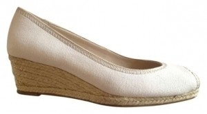 Banana Republic Off-white Peep Toe Espadrille Cream Wedges