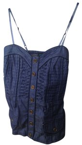 Love Culture Denim Chambray Halter Top