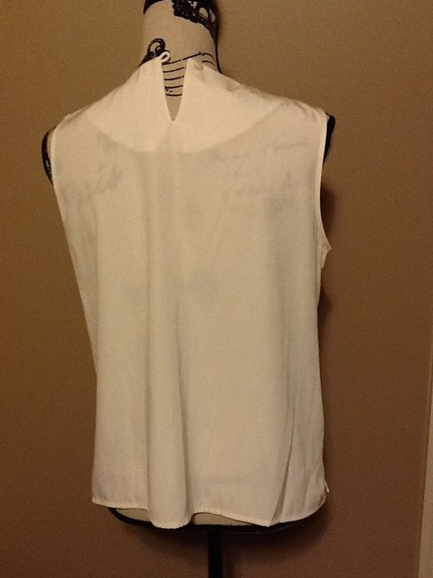 Notations Office Sleeveless Professional Simple Relaxed Top Light Creme