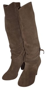 Comptoir des Cotonniers Suede Boot Slouch Tall Beige Boots