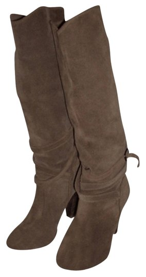 Comptoir des Cotonniers Suede Slouch Tall Beige Boots