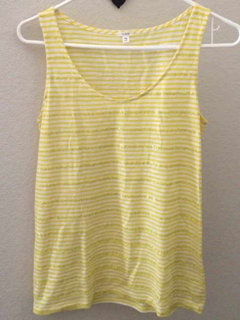 J.Crew Top Yellow/White