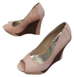 Michael Antonio Beige or light pink and brown Wedges