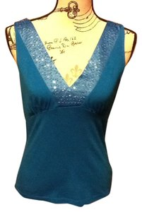 Liz Claiborne Professional Office Loose Fitted Beading Soft Top Teal