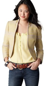 Ann Taylor LOFT Yellow and Beige Jacket