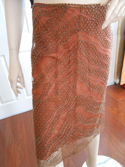 Alberta Ferretti Skirt Copper