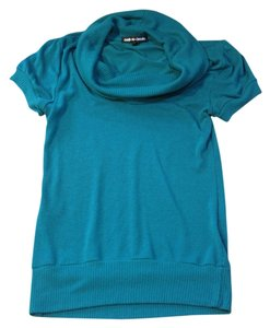 Active Basic Cowl Neck Sweater Short Sleeved Top Green/Jade