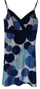 Ann Taylor short dress Blue, black, white Sleeveless Fitted on Tradesy