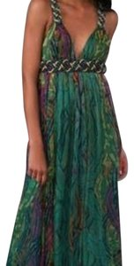 Peacock multicolor Maxi Dress by Catherine Malandrino