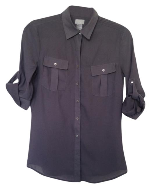 Preload https://item5.tradesy.com/images/h-and-m-gray-button-down-blouse-size-4-s-1330589-0-0.jpg?width=400&height=650