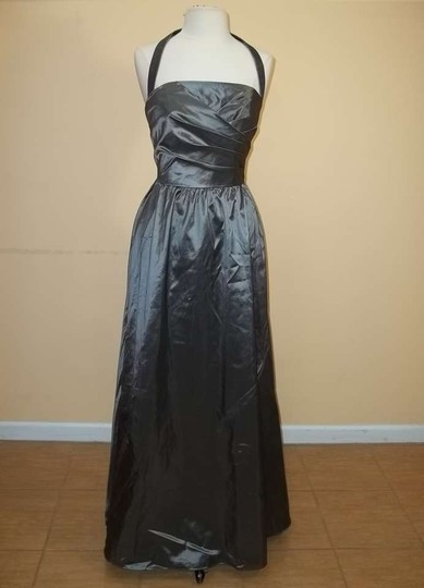 Alfred Angelo Carbon Taffeta 7185 Formal Bridesmaid/Mob Dress Size 10 (M)