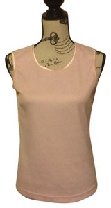 Allison Daley Ribbed Comfortable Smooth Collar Office Tank Top Pink