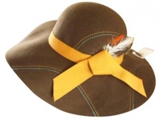 Preload https://item1.tradesy.com/images/icing-brown-chic-feathered-floppy-wool-hat-133070-0-0.jpg?width=440&height=440