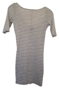 Club Monaco T Shirt Gray/off-white stripe