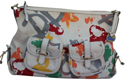 Preload https://item5.tradesy.com/images/dooney-and-bourke-mulit-with-white-leather-trim-shoulder-bag-1330704-0-0.jpg?width=440&height=440