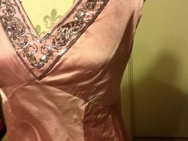 Nine West Silk Tapered Beaded Sleeveless Night Out Top Flamingo