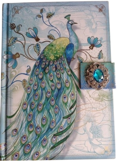 Preload https://item3.tradesy.com/images/turquoise-diary-journal-notebook-peacock-yellow-with-oval-brooch-1330737-0-0.jpg?width=440&height=440