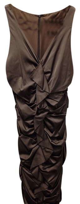 Nicole Miller Silk Sexy Ruched Dress