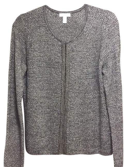 Preload https://item2.tradesy.com/images/charter-club-silver-metallic-cardigan-with-beads-in-front-sweaterpullover-size-12-l-13308001-0-1.jpg?width=400&height=650