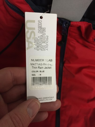 Number Lab Number Lab Marrias Reverse Thin Rain Jacket Red Size Medium