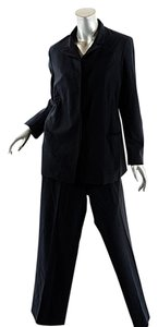 Jil Sander JIL SANDER Black Wool Blend Pantsuit w/Hidden Placket - GREAT LOOKING - 40