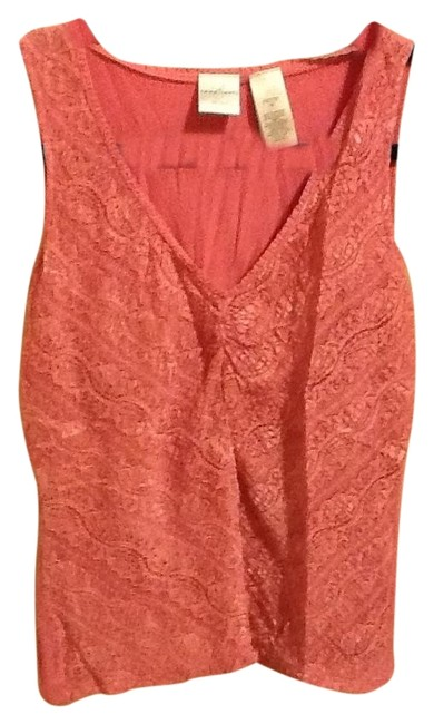 Emma James Petite Lace Design Office Cute Pull-over Stretchy Top Pink