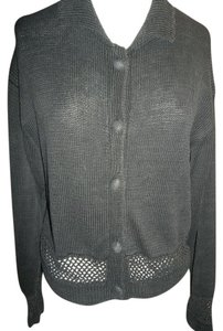 OHI Button Front Collar Cardigan