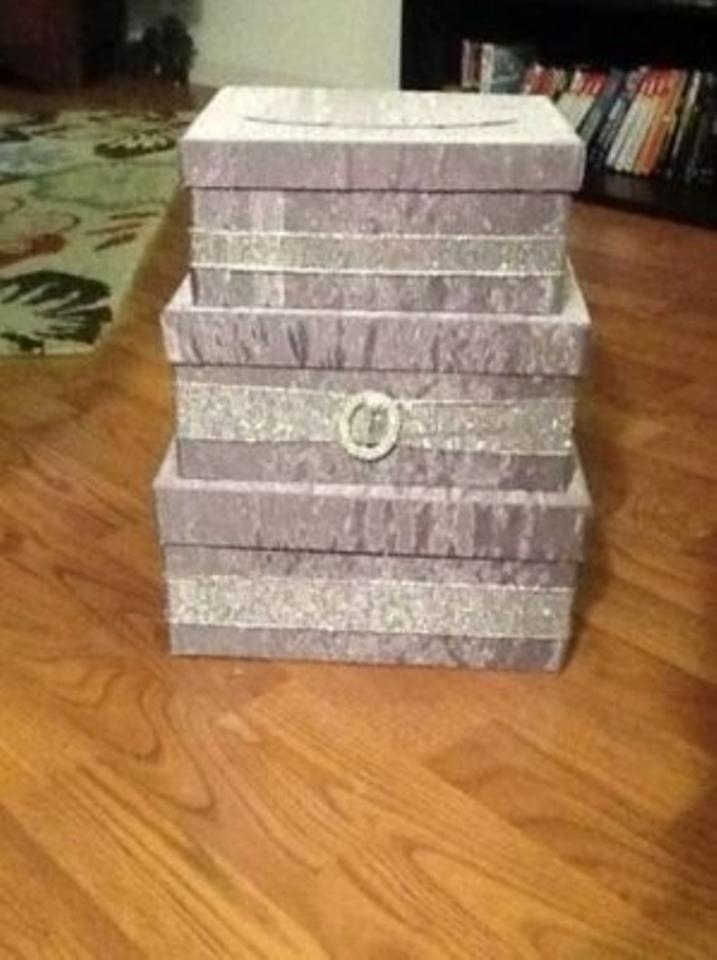 Purple Sparkly Wedding Card Box On Hold Please Message Before Purchase