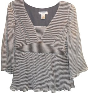 Nine West Top Grey Striped