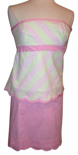 Lilly Pulitzer short dress Pink Top Skirt Size 2 on Tradesy