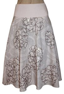 Anthropologie Floral Hazel Embroidered Skirt PINK