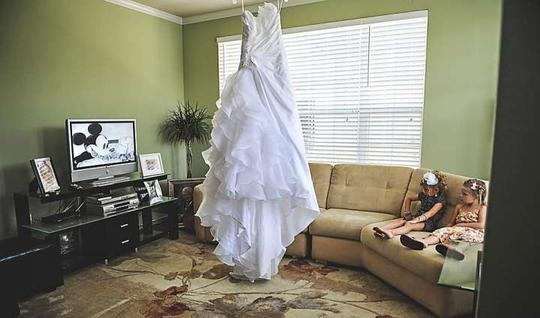 Alfred Angelo White Taffeta 210 Formal Wedding Dress Size 12 (L)