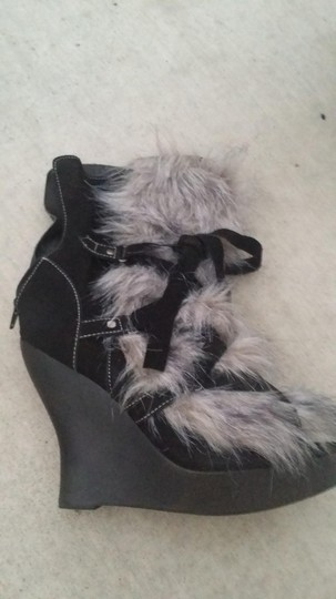 Jeffrey Campbell Black and Grey Boots