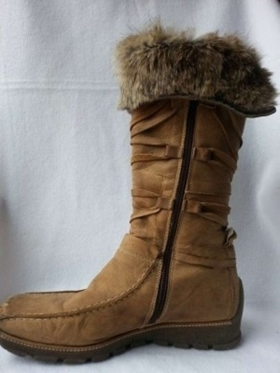 Mod.Brev Fur Leather Italian light brown Boots